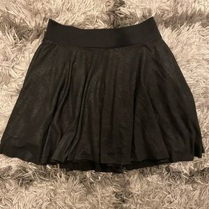 Guess Black Skater Skirt Faux Leather Look